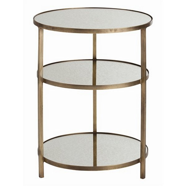 Arteriors Percy Antique Brass/Mirror End Table | 2032