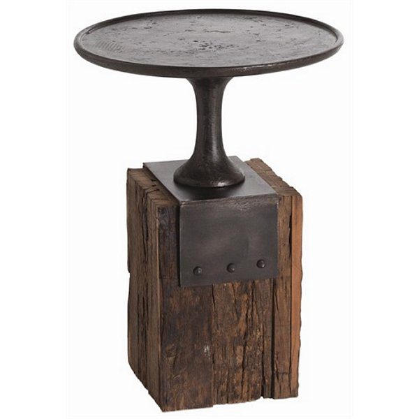 Arteriors Anvil Cast Iron Reclaimed Wood Occasional Table