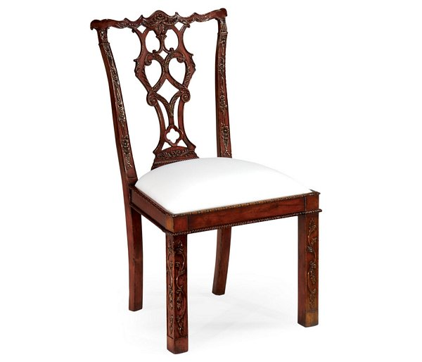 Chippendale Chairs Part - 42: Chippendale Style Rococo Quatrefoil Side Chair Pin It