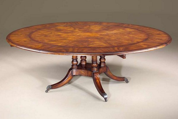 Regency Circular Extending Dining Table Pin It