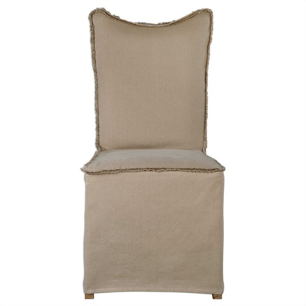 Uttermost Lenore Armless Chairs, Khaki   Set/2 | 23307
