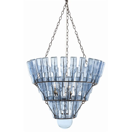 Maximum wattage ratings for chandelier shades inside the designers stedman ironblue glass 5l chandelier mozeypictures Images