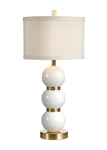 shimmer of gold jazzes up classic white lamps making them sparkle. Black Bedroom Furniture Sets. Home Design Ideas