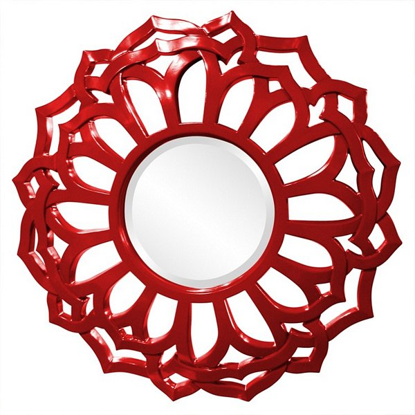 Casey Red Mirror