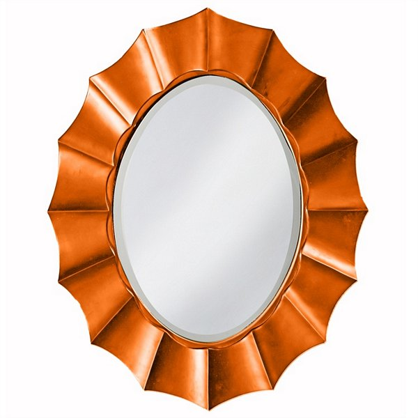 Corona Orange Oval Mirror