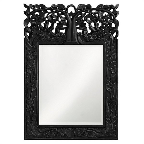 Oakvale Glossy Metallic Black Mirror