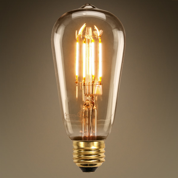 Led filament light bulbs inside the designers studio Led light bulb cost
