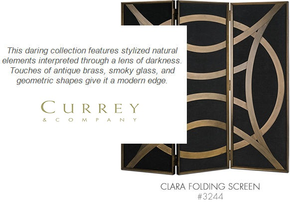 Currey & Company 3244 - Clara Folding Screen
